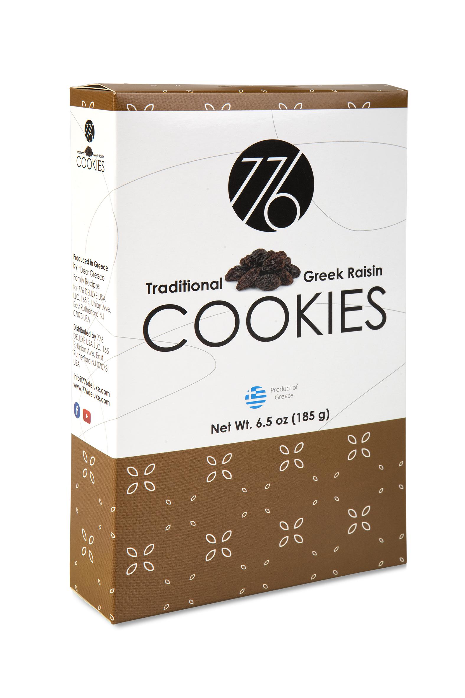 Traditional Greek Raisin Cookies