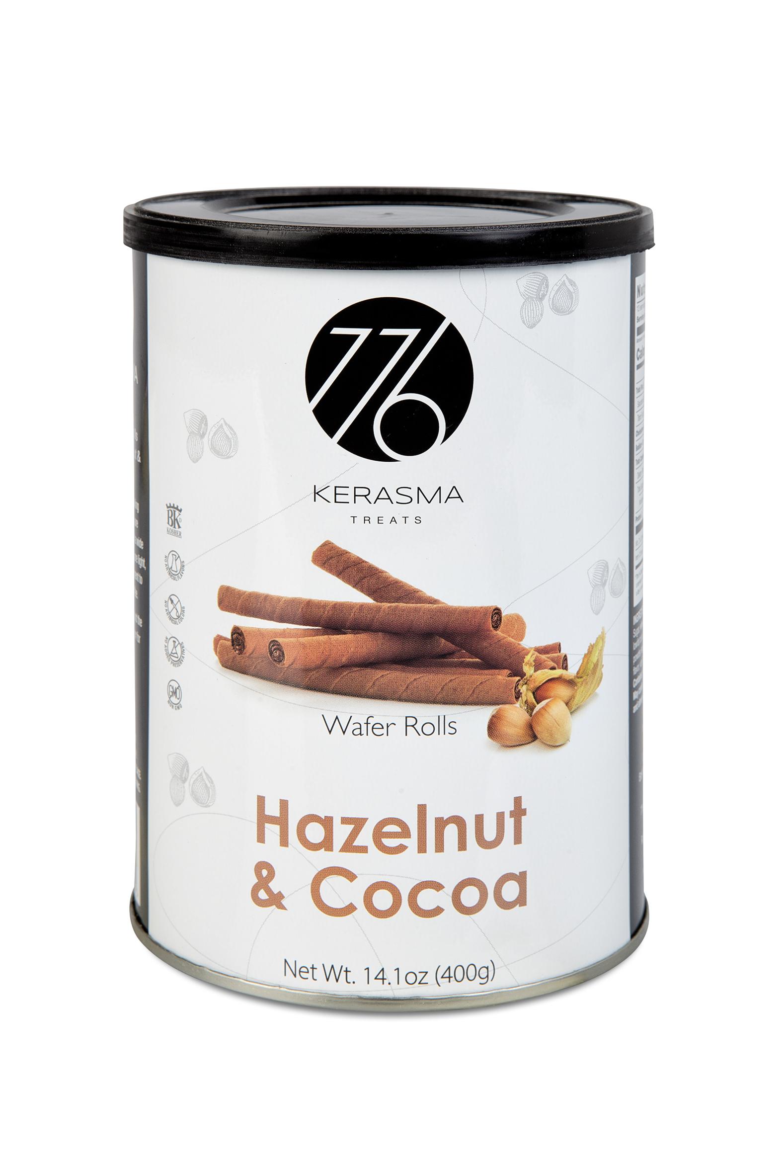 Hazelnut & Cocoa Wafer Rolls