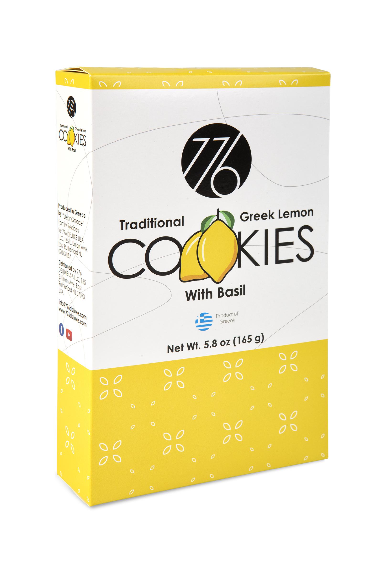 Traditional Greek Lemon with Basil Cookies